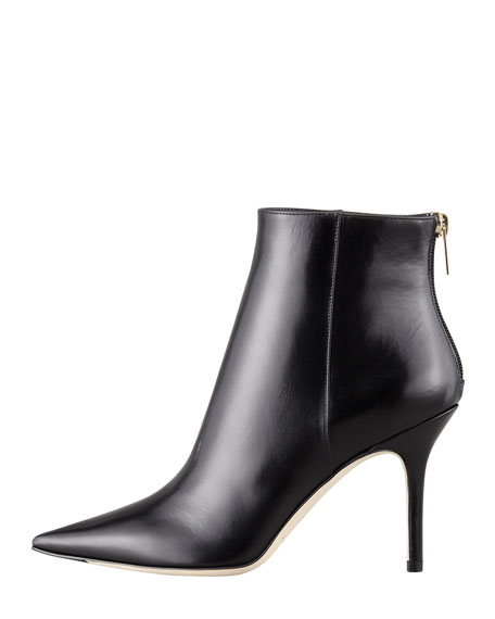 Amore Pointed-Toe Ankle Boot, Black