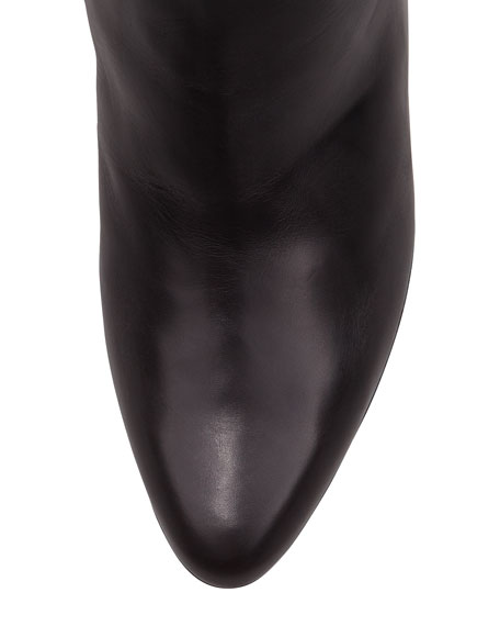 Adent Fitted Knee Boot, Black
