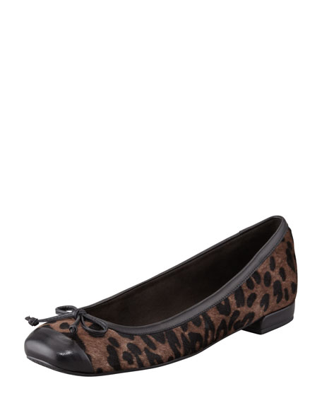 Stringtip Printed Calf Hair Ballerina Flat