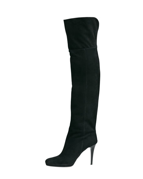 Image 1 of 1: Gypsy Fitted Over-The-Knee Boot, Black