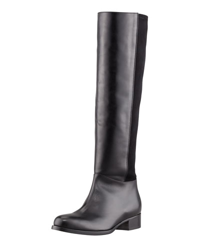 Jimmy Choo Brava Fitted Stretch Leather Knee Boot, Black