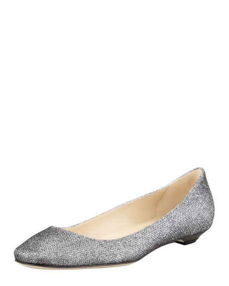 Finlay Glittered Ballerina Flat, Anthracite