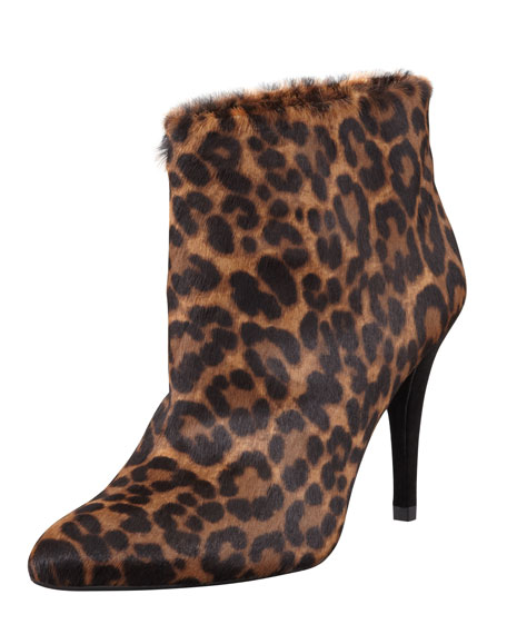 This Is Great Leopard-Print Calf Hair Bootie