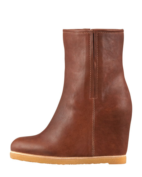 Bootscout Hidden-Wedge Bootie, Walnut