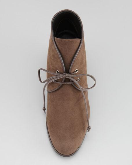 Kalahari Suede Hidden-Wedge Lace-Up Boot