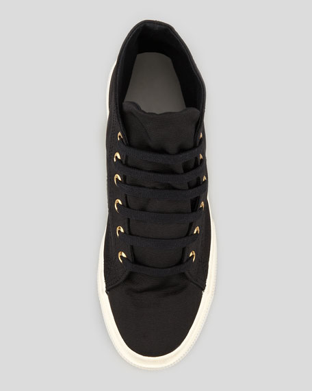 Cashmere High-Top Sneaker, Black