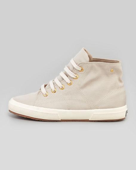 Cashmere High-Top Sneaker, Oatmeal
