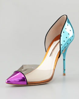 Sophia Webster Jessica Metallic Mixed-Media Pump