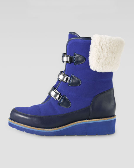 Lania Weatherproof Suede Boot, Blue