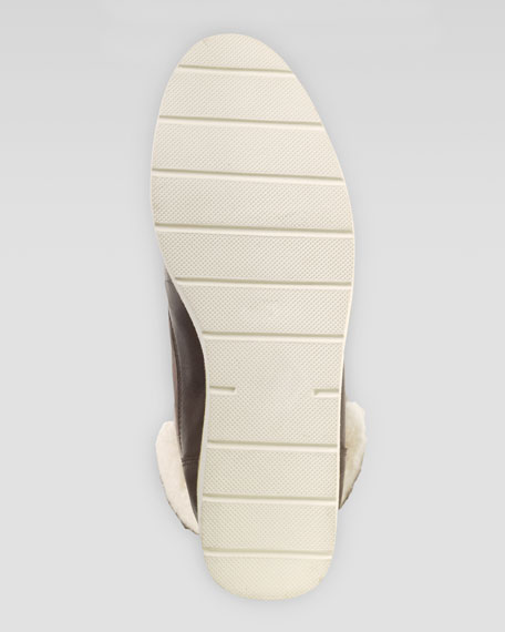 Lania Weatherproof Suede Boot, Maple