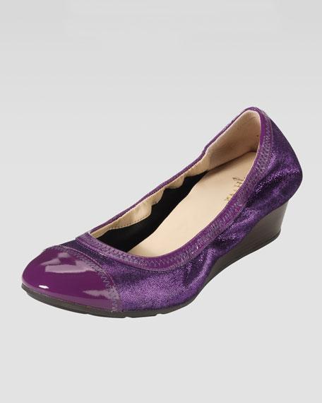 Milly Sparkle Wedge Pump, Purple