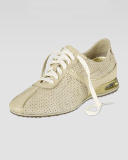 Cole Haan Air Bria Perforated Suede Oxford, Sandshell