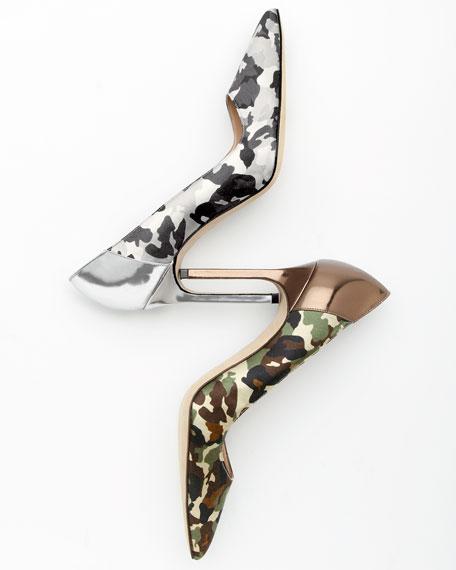 BB Camo 105mm Specchio-Heel Pump