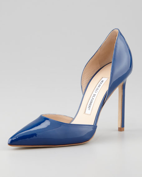 Tayler Patent Pointed d'Orsay Pump, Blue