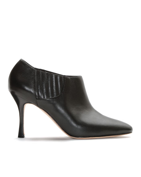 Livrea Leather Gore Ankle Bootie