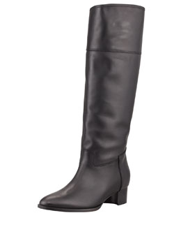 Manolo Blahnik Equestra Knee-High Boot, Black