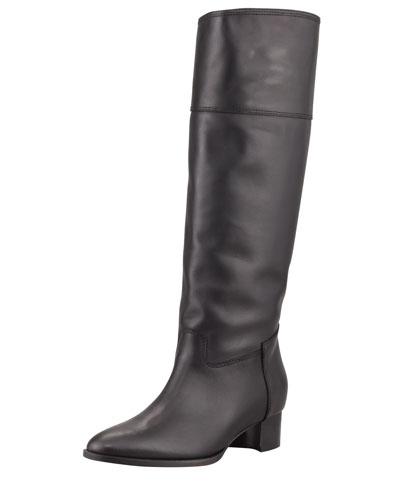 Manolo Blahnik Equestra Knee-High Boot, Black