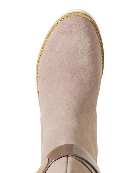 Gerina Suede Knee Boot, Maple Sugar