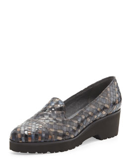 Sesto Meucci Robin Chunky Woven Slip-On, Black