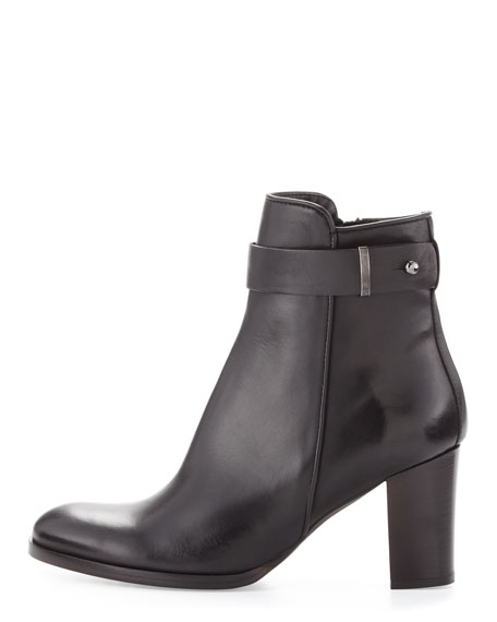 Beth Leather Ankle Boot, Black