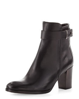 Sesto Meucci Beth Leather Ankle Boot, Black