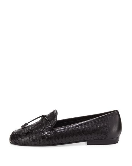 Nancy Woven Tassel Loafer, Black