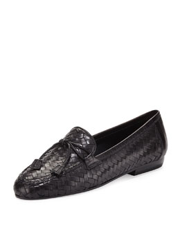 Sesto Meucci Nancy Woven Tassel Loafer, Black