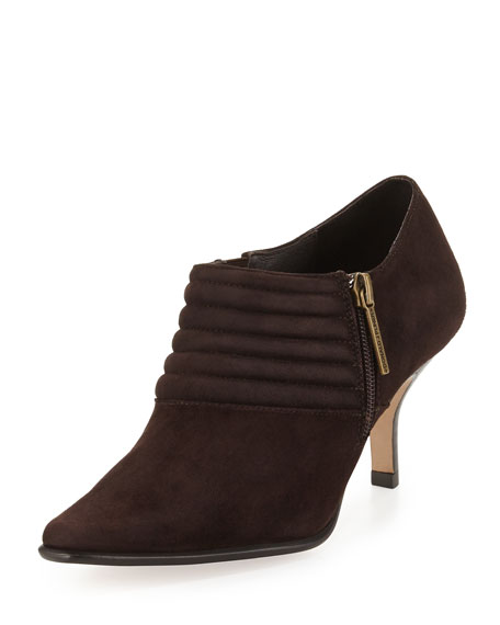 Lott Crepe Ankle Bootie, Espresso Brown