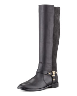 VC Signature Karren Leather & Suede Knee-Length Boot