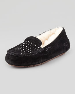 UGG Australia Ainsley Bling Suede Slipper, Black