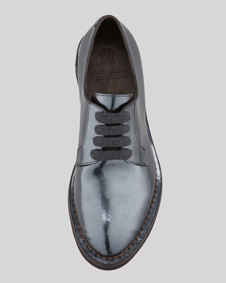 Metallic Lace-Up Oxford