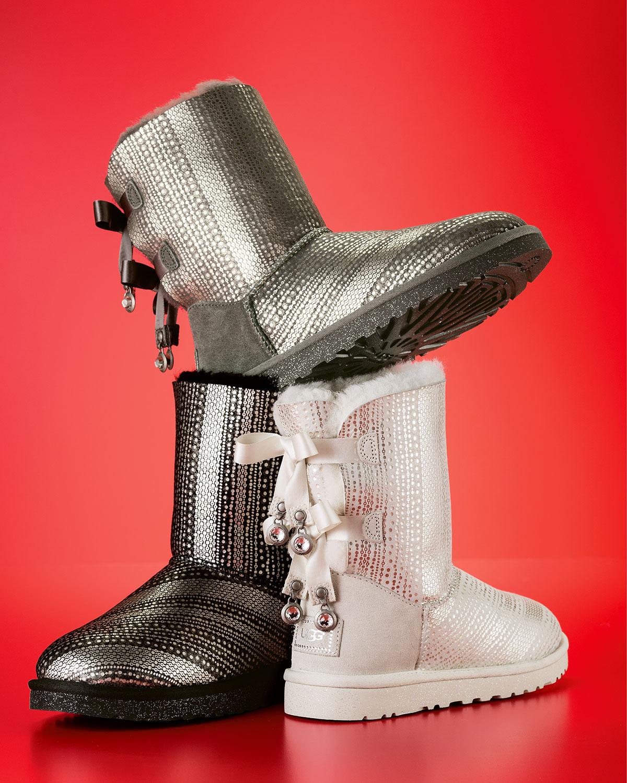 831bcbb7a1b Holiday Bailey Bow-Back Short Boot, Gray