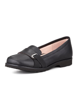 Taryn Rose Jaz Napa Leather Loafer, Black