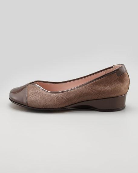 Kenna Cap-Toe Ballerina Flat, Choco
