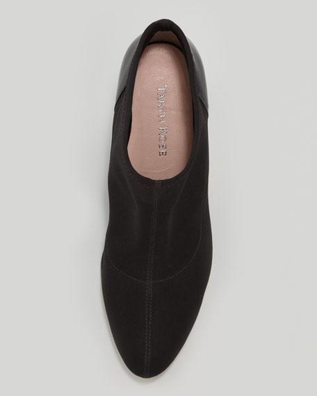Taft Stretch Fabric Bootie, Black