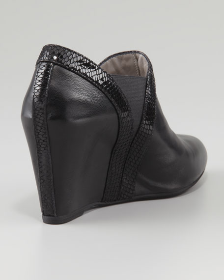 Silly Napa Wedge Bootie, Black