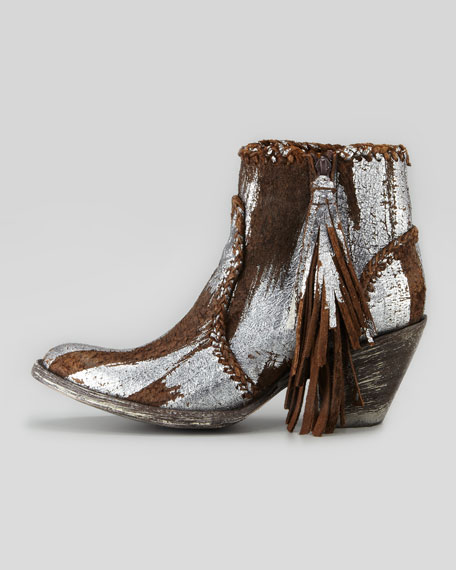 Adela Brushed Metallic Ankle Boot