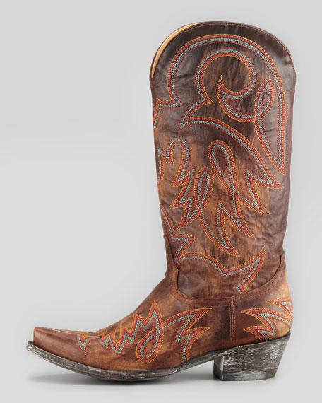 Lauren Embroidered Western Boot