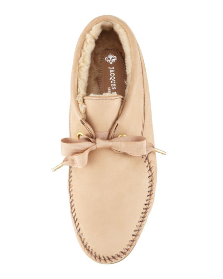 Daphne Lace-Up Moccasin Bootie, Tan