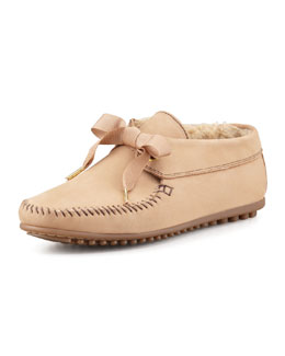 Jacques Levine Daphne Lace-Up Moccasin Bootie, Tan