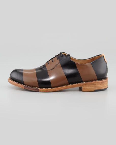 Mr. Smith Striped Oxford, Black/Brown