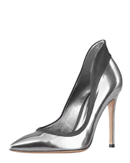 Gianvito Rossi Metallic Raised-Back Pump