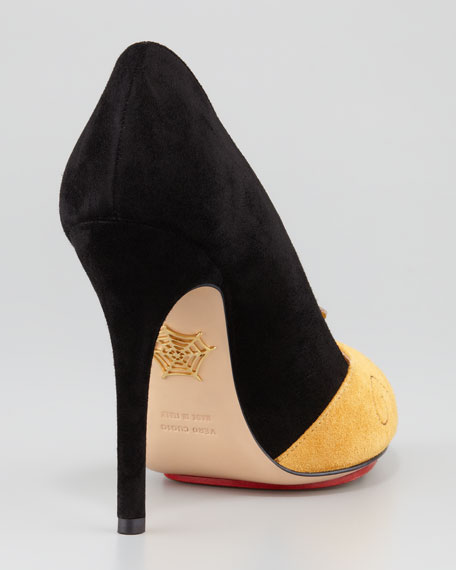 Sleeping Princess Suede Pump, Black