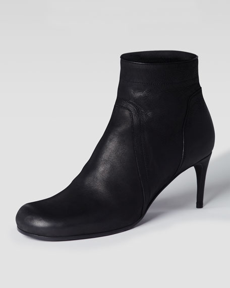 Spike-Heel Ankle Bootie, Black