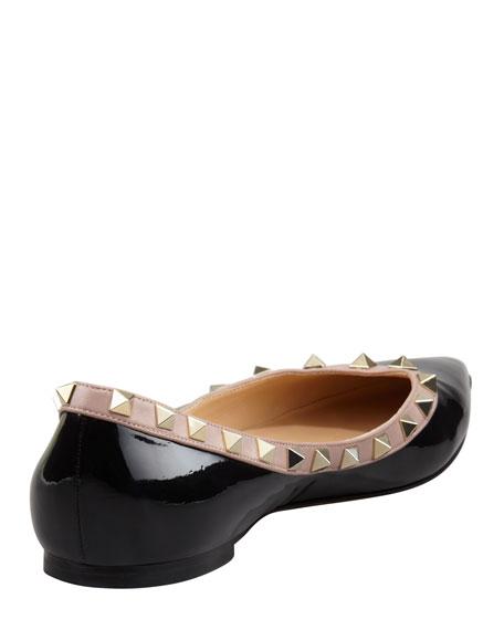 Rockstud Patent Ballerina Flat