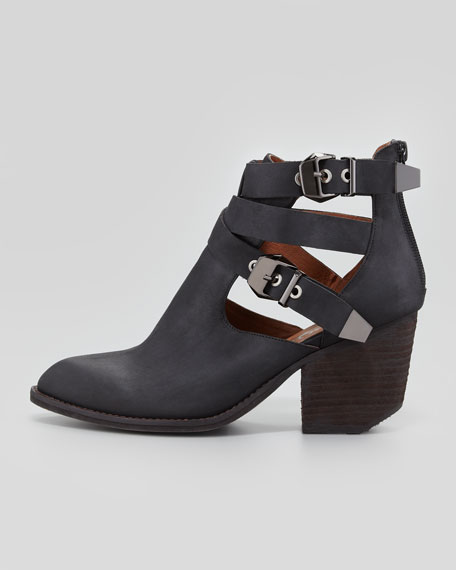 Buckeye Strappy Cutout Ankle Boot