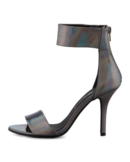 Jeffrey Campbell Inaba Holographic Ankle-Band Sandal