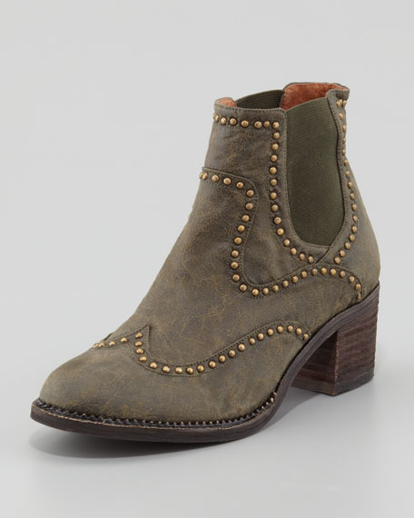 Lennox Studded Leather Ankle Boot