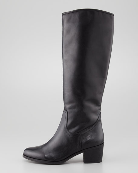 Sam Edelman Loren Tall Leather Boot, Black