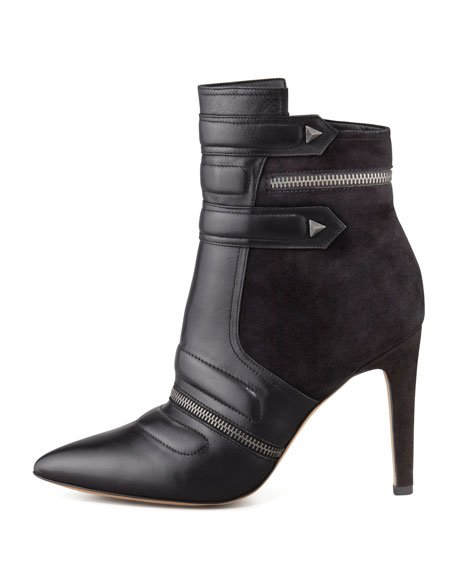 Sam Edelman Margo Suede & Leather Bootie, Black